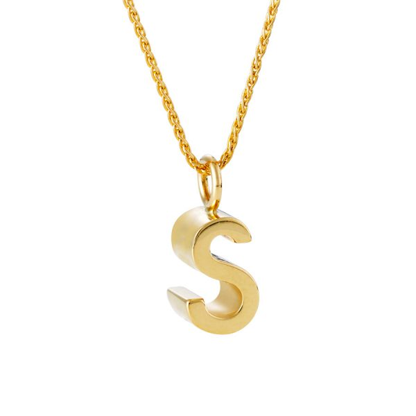 QWERTYs s in gold on chain